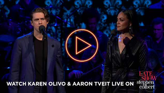 Watch Karen Olivo & Aaron Tviet on The Late Show